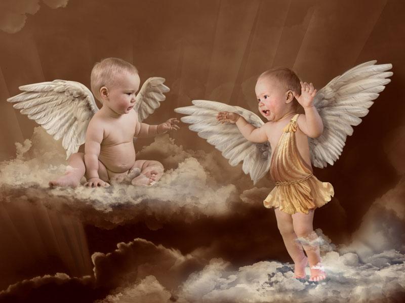 обои на рабочий стол ангелочки дети № 114824 без смс